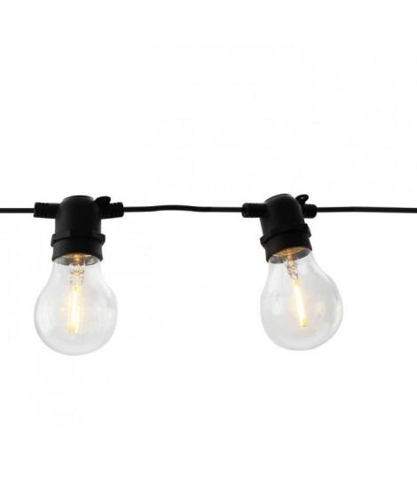 LEALIGHT Guirlande - 36 V - 4,9 m - 8 lampes LED blanc chaud