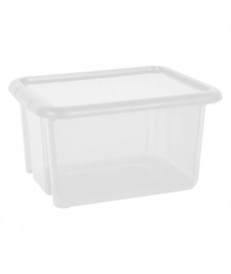 EDA PLASTIQUE Boîte de rangement Funny Box 30 L - Naturel - 44 x 36 x 25 cm