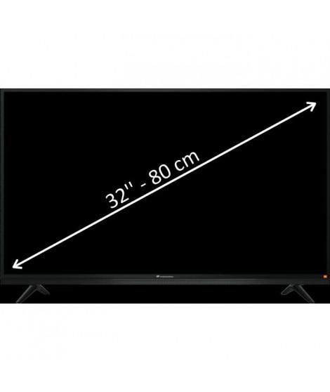 "CONTINENTAL EDISON TV LED HD 80cm (32"") avec barre de son JBL intégrée - 3 x HDMI - 2 x USB"
