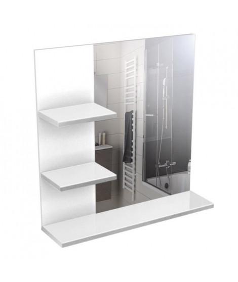CORAIL Meuble miroir de salle de bain L 60 cm - Blanc laqué
