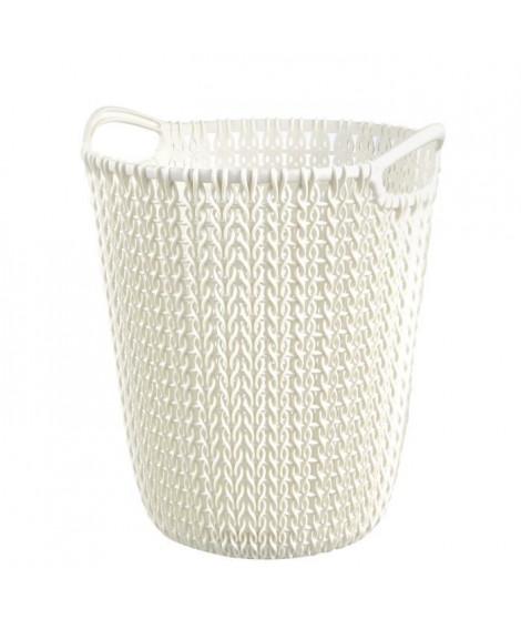 CURVER Corbeille de rangement 7 L - Aspect tricot - Blanc cassé