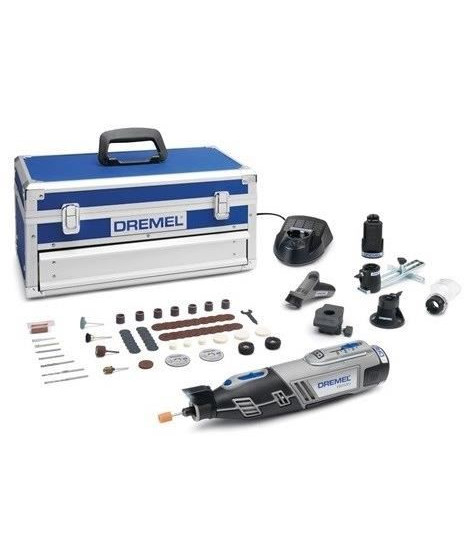 DREMEL Outil multi-usage Edition Platinium 8220-5/65 - Sans fil - 5 adaptations - 65 accessoires - Li-ion - 12 V