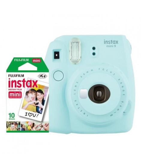 Fujifilm Instax Mini 9 Bleu Givré + 10 Pellicules couleurs
