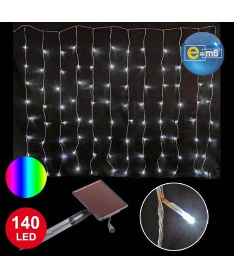 CODICO Banniere solaire lumineuse - 140 LED - 2 x 1 m - Multicolore