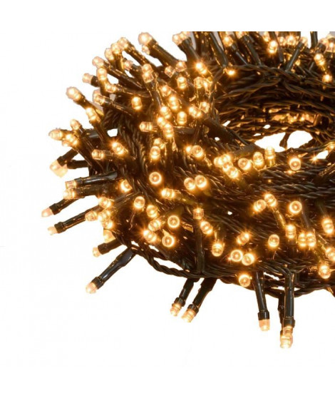 LOTTI Guirlande lumineuse TLE - 24,5 m - 600 LED blanc traditionnel