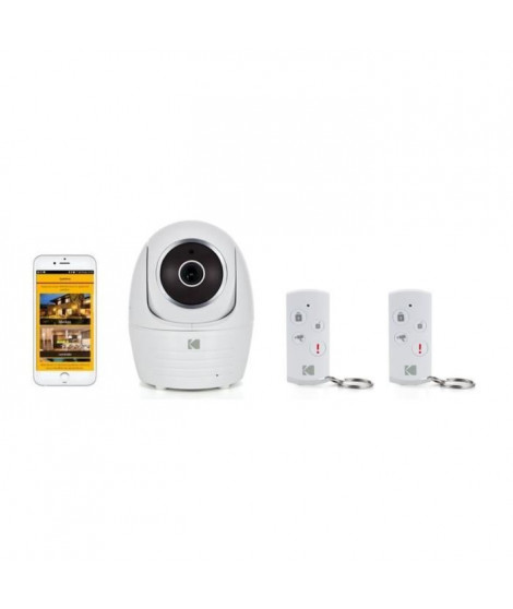 KODAK Pack Caméra Full HD IP101WG+ 2 télécommandes
