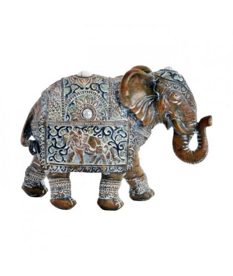 Figurine Elephant en résine - 20,5 x 8 x 15 cm - Style ethnique