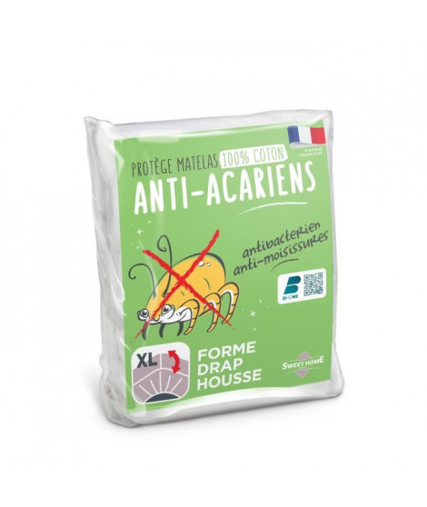 SWEETHOME Protege-matelas 100% coton - Anti-acariens - 140x190 /200 cm