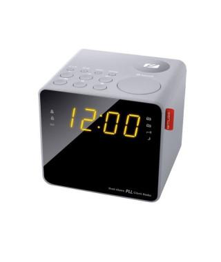 MUSE M-187 CLG Radio Reveil Double Alarme - Tuner PLL FM - 20 Présélections