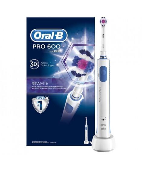 Oral-B PRO600 3D Brosse a dents électrique par BRAUN - Blanc