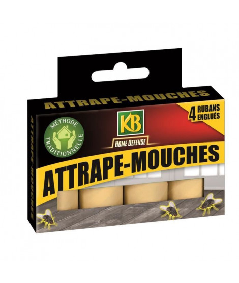 KB Lot de 4 rubans attrape mouches