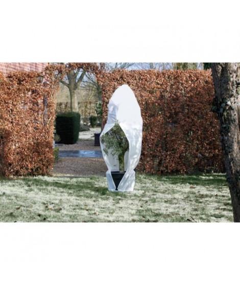 NATURE Housse d'hivernage 70 g/m² - Ø 200 cm x 2,50 m - Blanc