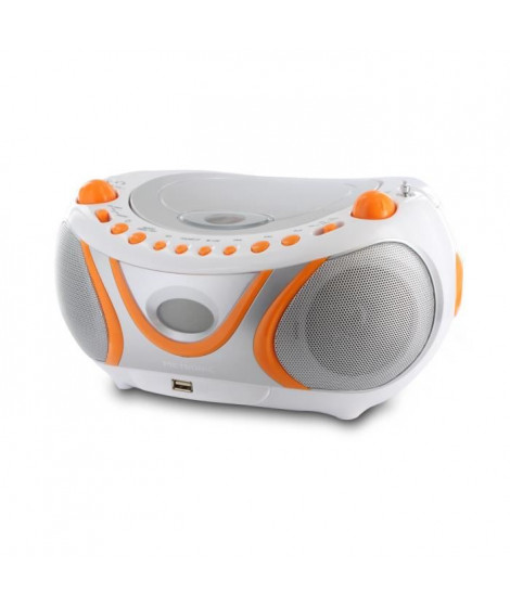 METRONIC 477133 Radio cd juicy - Blanc et orange