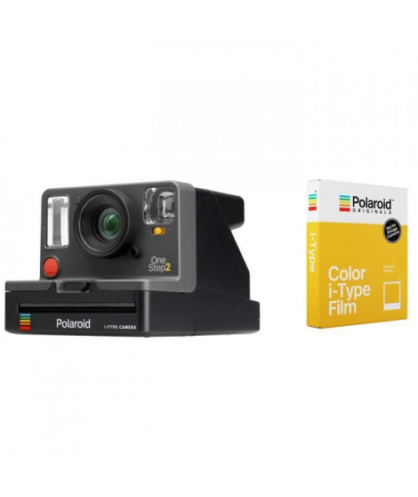 POLAROID Appareil photo instantané Original OneStep 2 - Avec viseur - Graphite + 8 Films