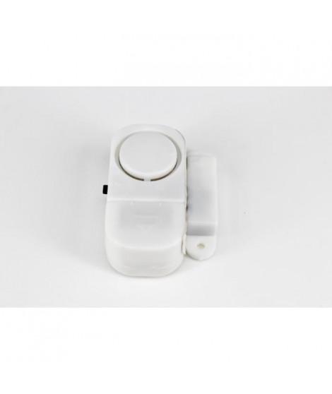 Lot de 4 alarmes de porte ou fenetre AUTONOMIE ET BIEN eTRE TMI 1910 - Sirene 90 dB - Blanc