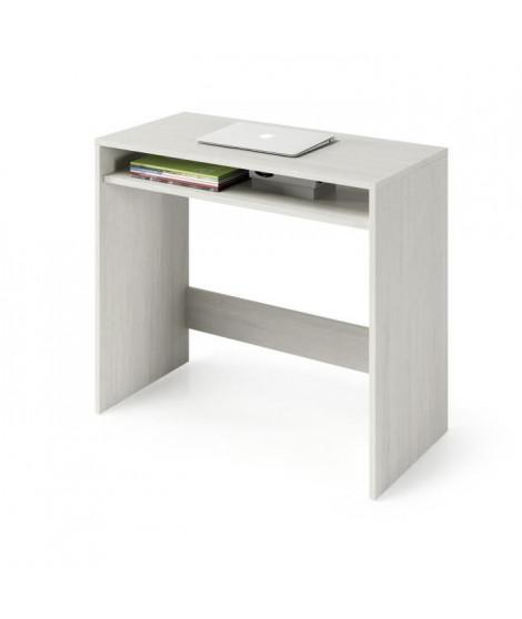 Bureau finition blanc Artik, étagere/niche fiche sous plateau  dimensions 79x78x43cm