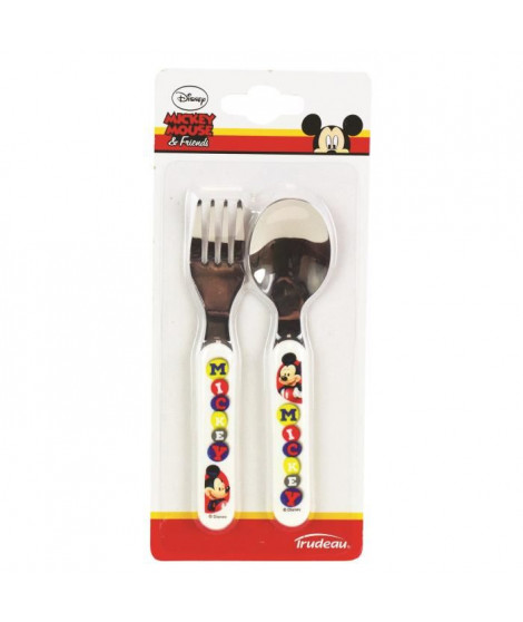 MICKEY Set de 2 couverts - Blanc