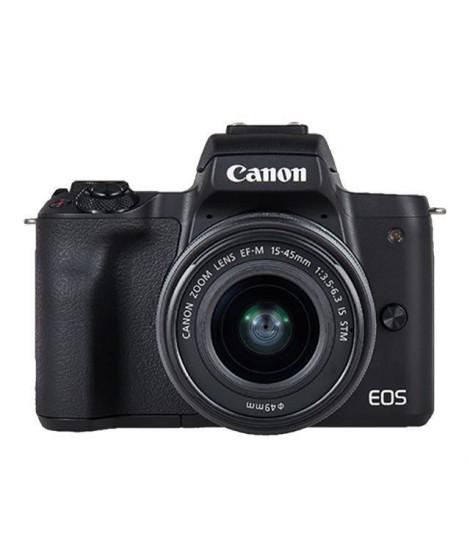 CANON EOS M50 15-45 STM Capteur APS-C 24 MP - Ecran tactile orientable - Noir