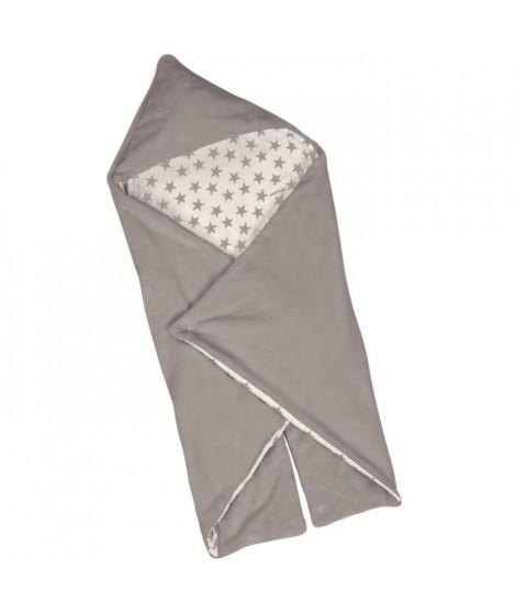 BABYCALIN Couverture Universelle Étoile - Coton et polyester - Taupe - 90 x 110 cm