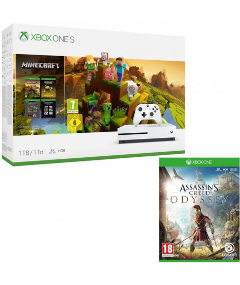 Xbox One S 1  To Minecraft Creators + Assassin's Creed Odyssey