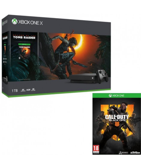 Xbox One X 1 To Shadow of The tomb Raider + Call of Duty Black Ops 4