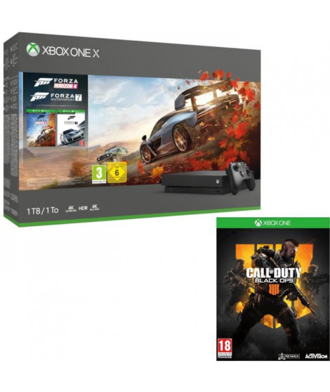 Xbox One X 1 To Forza Horizon 4 + Forza Motorsport 7 + Call of Duty Black Ops 4