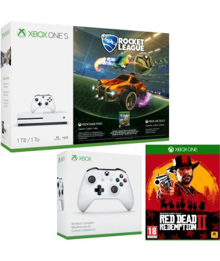 Xbox One S 1 To Rocket League + Red Dead Redemption 2 + manette
