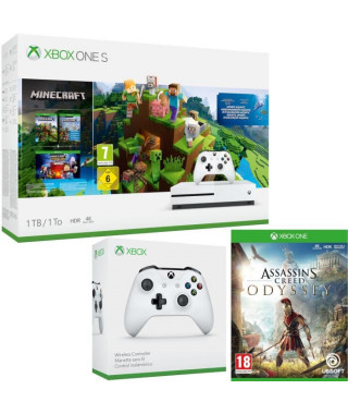 Xbox One S 1 To Minecraft + Assassin's Creed Odyssey + manette