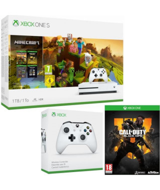 Xbox One S 1 To Minecraft Creators+ Call of Duty Black Ops 4 + manette