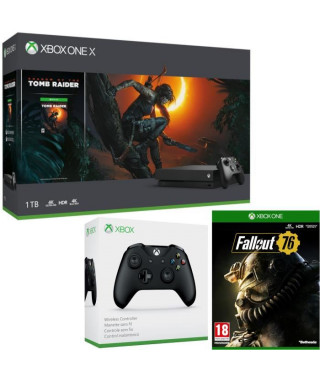 Xbox One X 1 To Shadow of The tomb Raider + Fallout 76 + manette