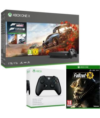 Xbox One X 1 To Forza Horizon 4 + Forza Motorsport 7 + Fallout 76 + manette