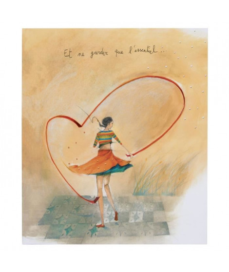 PANODIA Album photo Coeur - 100 vues - Collection Artist - 21,8 x 24,5 cm