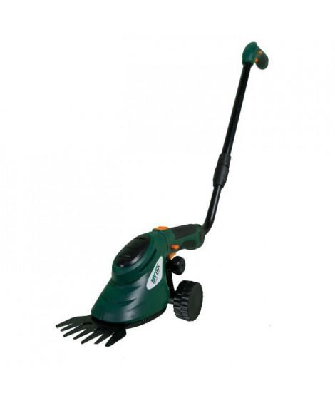 MYTEK Coupe bordure, cisaille d'herbe a main sur perche électrique télescopique - Sans fil - Rotation 270° - 3,6 V - Avec bat…