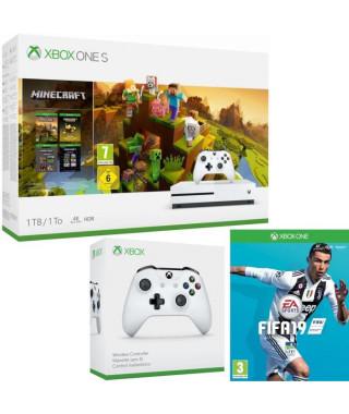 Xbox One S 1 To Minecraft Creators + Fifa 19 + manette
