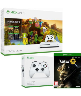 Xbox One S 1 To Minecraft Creators+ Fallout 76 + manette