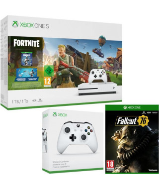 Xbox One S 1 To Fortnite + Fallout 76 + manette