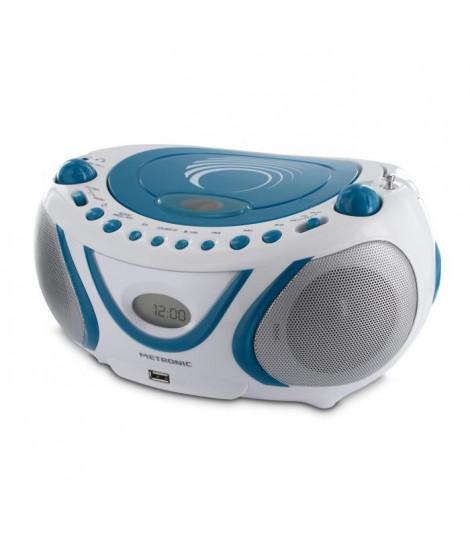 METRONIC 477115 Radio cd mp3 wave - Bleu et blanc
