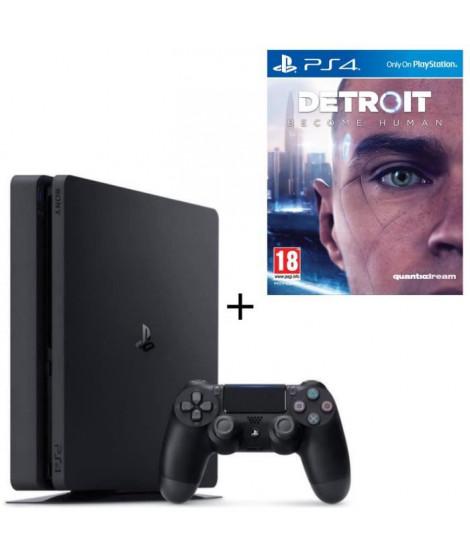Nouvelle PS4 500 Go Noire + Detroit Become Human Jeu PS4