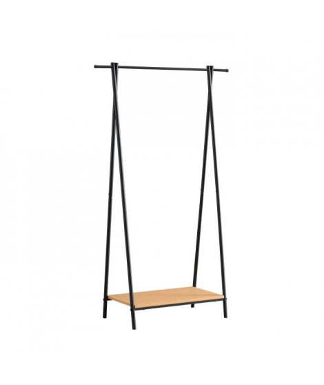 Porte-manteaux Charmille - Structure métallique - Finition laquée noir - L 84 x P 39 x H 150 cm