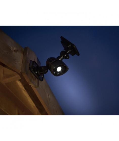 GALIX Spot a énergie solaire tres éclairante a détecteur de présence - 100 Lm - H 38,5-26,7 x 6,5 x 10,5 cm