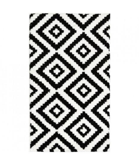 TAVLA Tapis de couloir moderne - 60  x  110 cm - 100% polypropylene frisée - Noir
