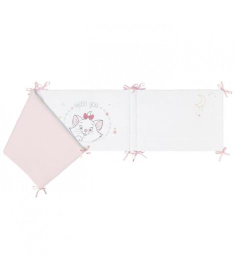DISNEY Tour de lit adaptable Marie Disney Classic - Velours 100% polyester - 40 x 180 cm lacet
