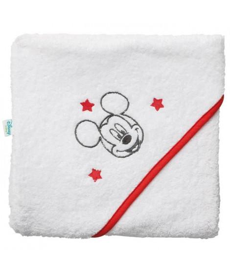 DISNEY Cape de bain Mickey - Broderie - Eponge 85% coton 15% polyester 340 g - 80 x 80 cm