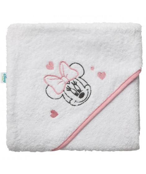 DISNEY Cape de bain Minnie - Broderie - Eponge 85% coton 15% polyester 340 g - 80 x 80 cm