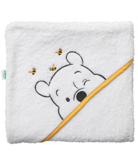 DISNEY Cape de bain Winnie - Broderie - Eponge 85% coton 15% polyester 340 g - 80 x 80 cm