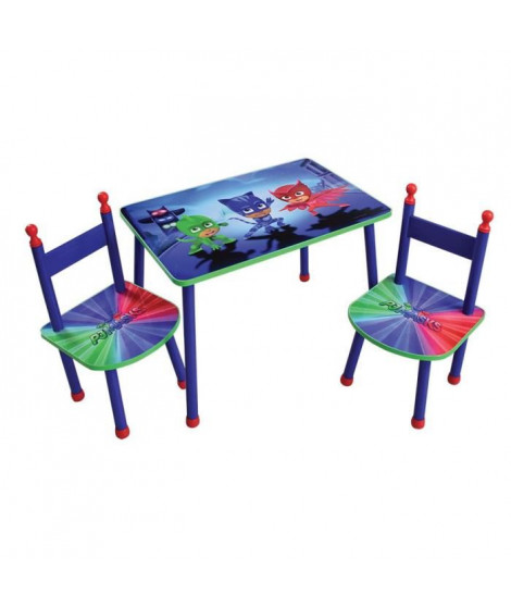 Fun House Pyjamasques table+2 chaises pour enfant
