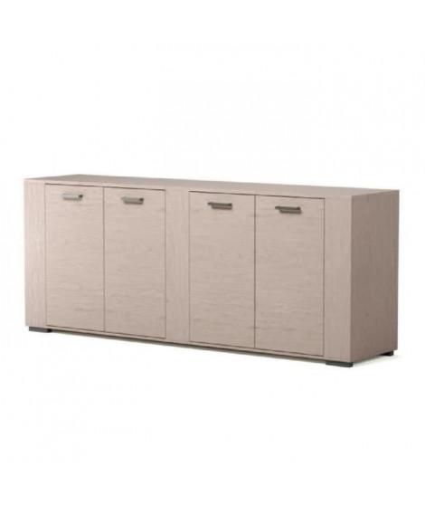 LOFT Buffet bas contemporain décor bois naturel - L 220 cm