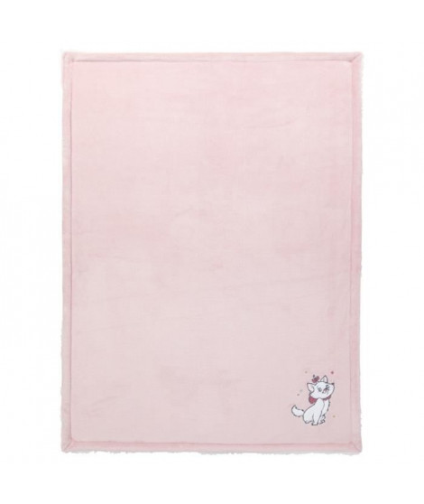 DISNEY Couverture bi-matiere Marie - Flanelle 100% polyester dos sherpa 100% polyester - 75 x 100 cm
