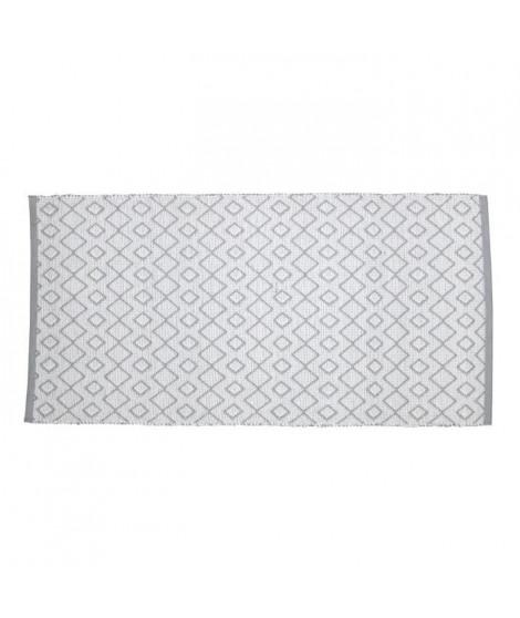 SOLYS Tapis d'extérieur - PVC - 140 x 70 cm - Gris