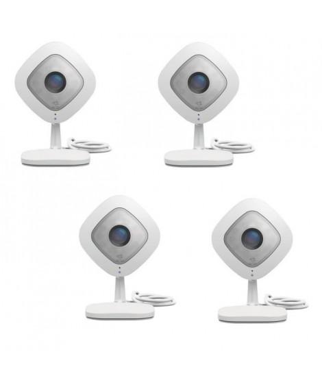 NETGEAR Pack de 4 caméras de surveillance Arlo Q full HD, vision nocturne, Wi-fi et compatible avec toutes les box VMC3040-10…